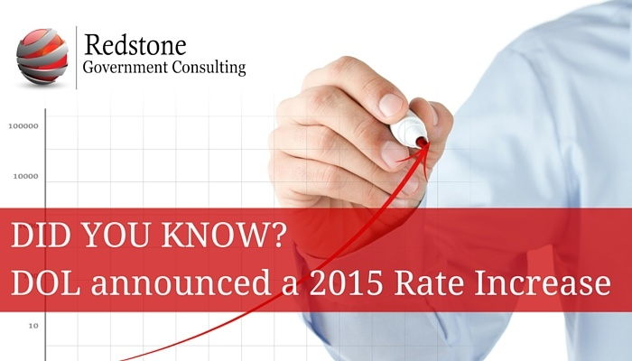 DID YOU KNOW? Department of Labor announced a 2015 Rate Increase - Redstone gci