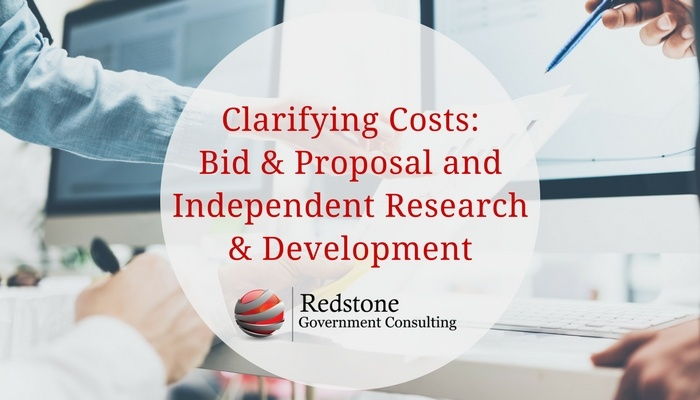 RCGI- Clarifying Costs-Bid & Proposal and Independent Research & Development