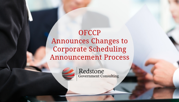 RCGI-OFCCP Announces Changes to Corporate Scheduling Announcement Process