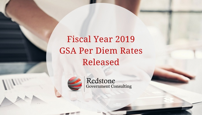 RCGI-Fiscal Year 2019 GSA Per Diem Rates Released