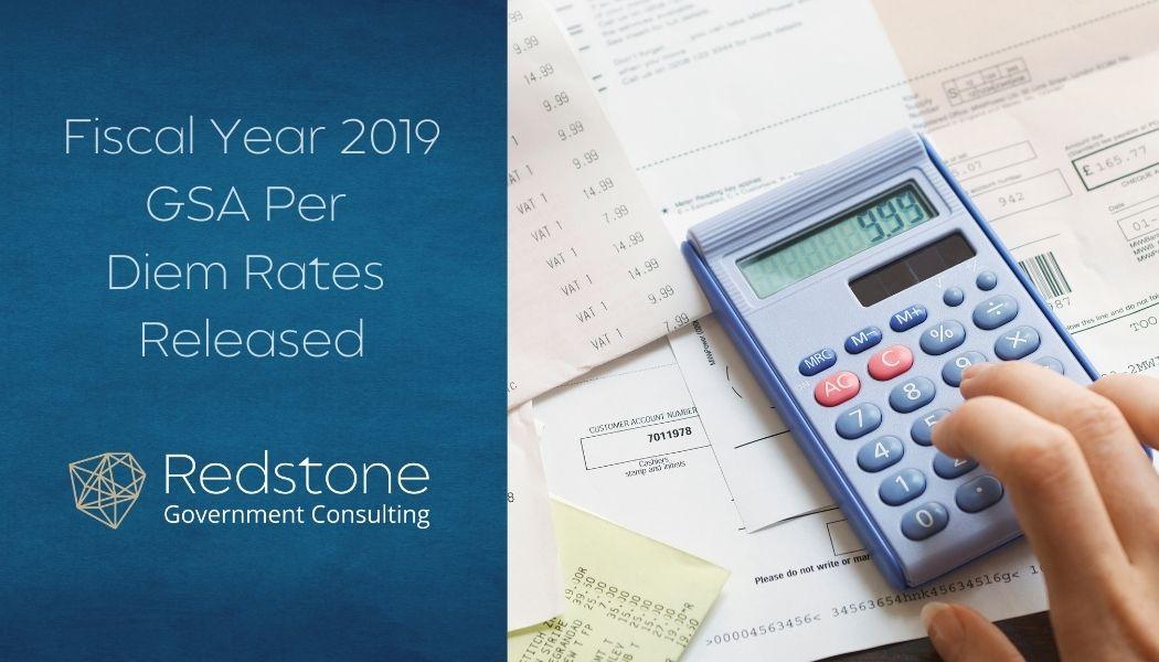 RCGI-Fiscal Year 2019 GSA Per Diem Rates Released
