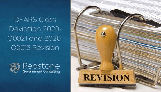 RGCI - DFARS Class Deviation 2020-O0021 and 2020-O0013 Revision