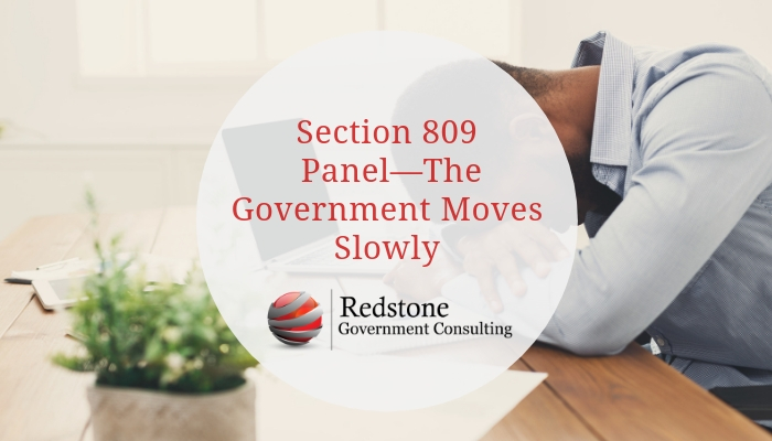 RGCI- Section 809 Panel—The Government Moves Slowly