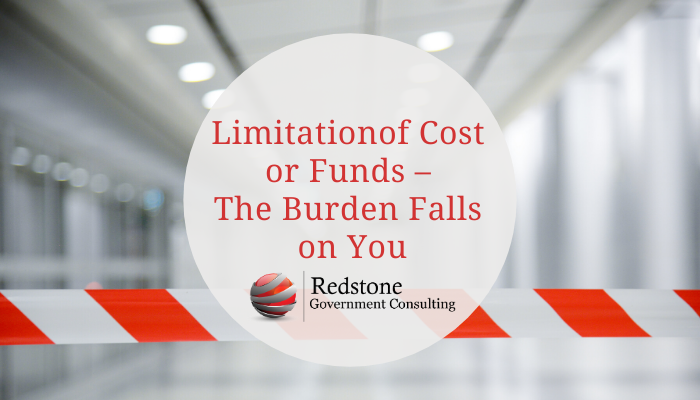 RGCI-Limitation of Cost or Funds –  The Burden Falls  on You