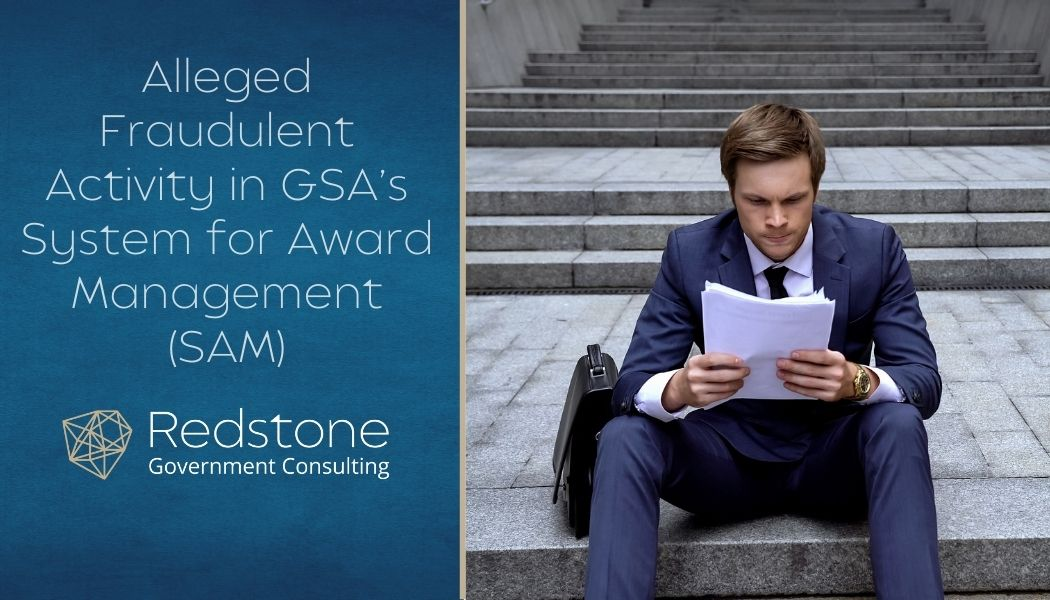 Redstone GCI-Alleged Fraudulent Activity in GSAs SAM