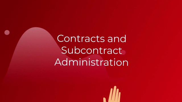 Basic Contract Administration & Subcontract Administration Terminology - Redstone gci