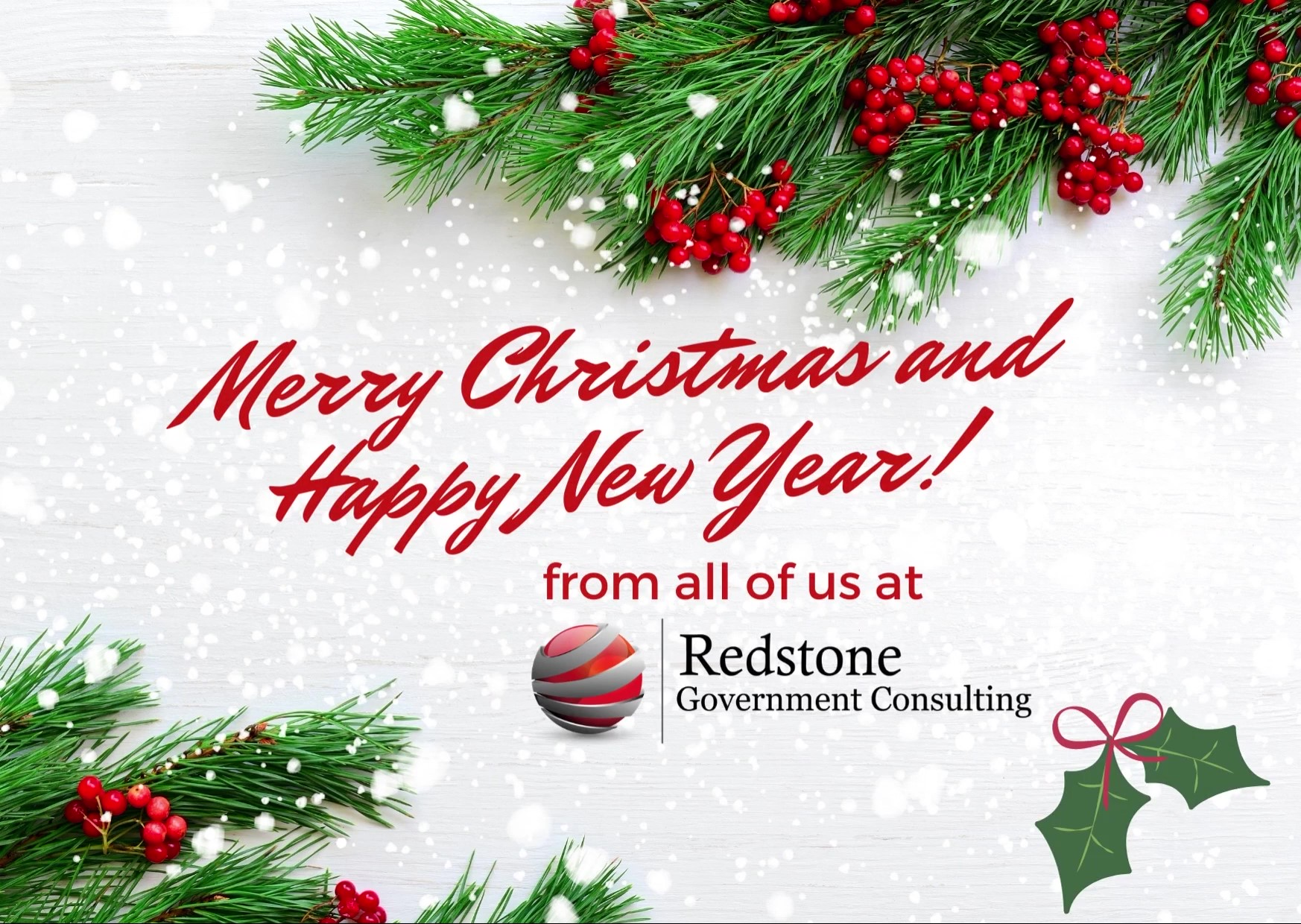 Merry Christmas and Happy New Year - Redstone gci