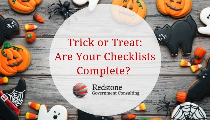 Trick or Treat: Are Your Checklists Complete? - Redstone gci