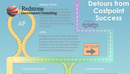 Costpoint: Detours to the Road of Success in the Accounting Module - Redstone gci