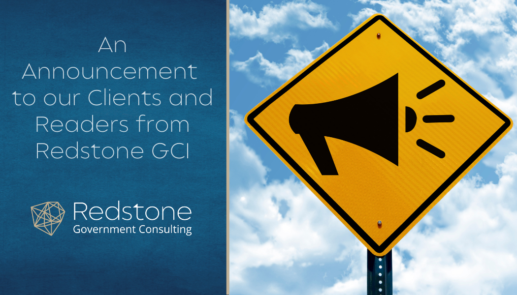 An Announcement to our Clients and Readers from Redstone GCI - Redstone gci