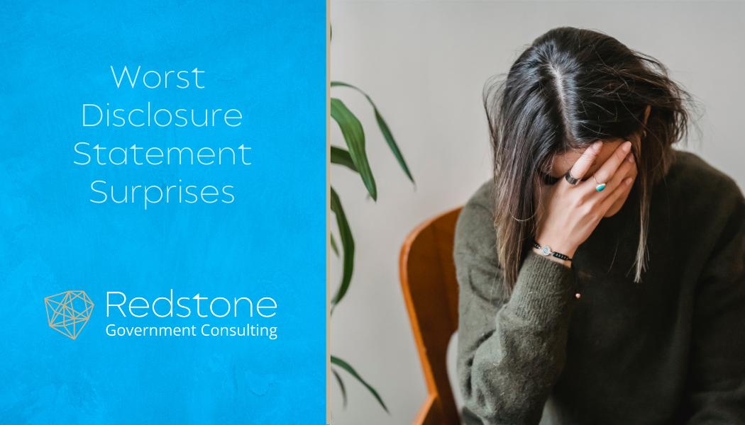 Worst Disclosure Statement Surprises - Redstone gci