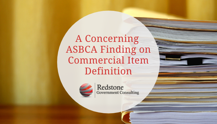 A Concerning ASBCA Finding on Commercial Item Definition - Redstone gci