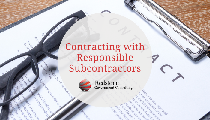 Contracting with Responsible Subcontractors - Redstone gci