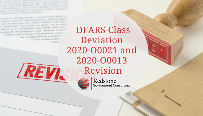 DFARS Class Deviation 2020-O0021 and 2020-O0013 Revision - Redstone gci