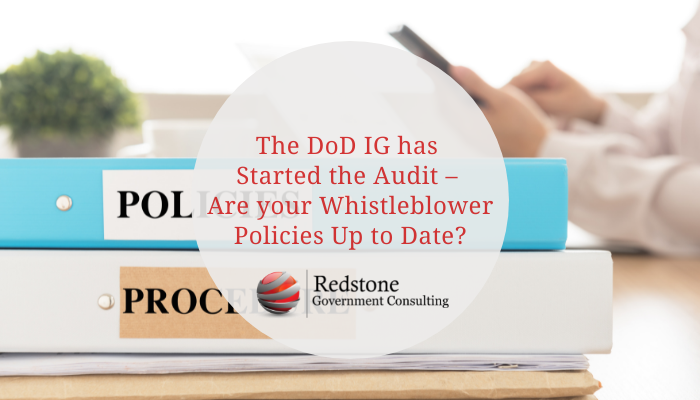 The DoD IG has started the audit – Are your Whistleblower policies up to date? - Redstone gci