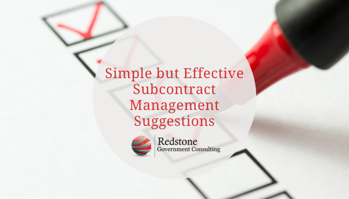 Simple but Effective Subcontract Management Suggestions - Redstone gci
