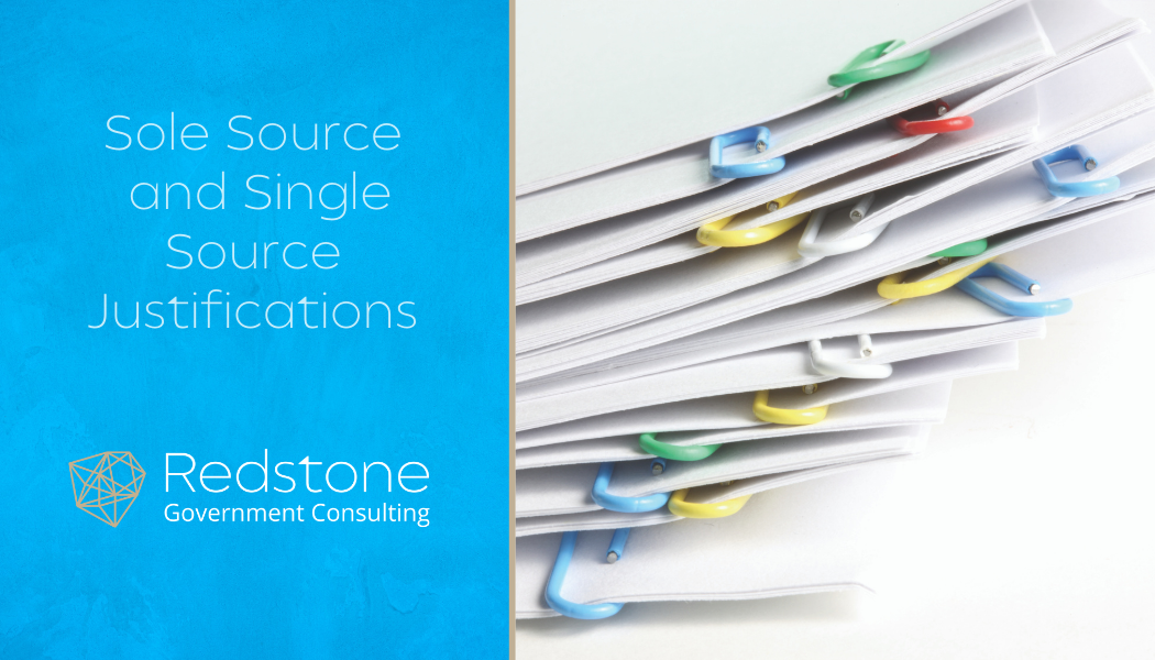 Sole Source and Single Source Justifications - Redstone Government Consulting