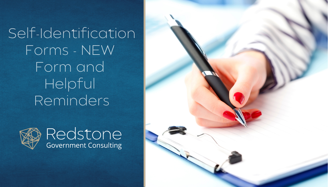 Self-Identification Forms - NEW Form and Helpful Reminders - Redstone gci