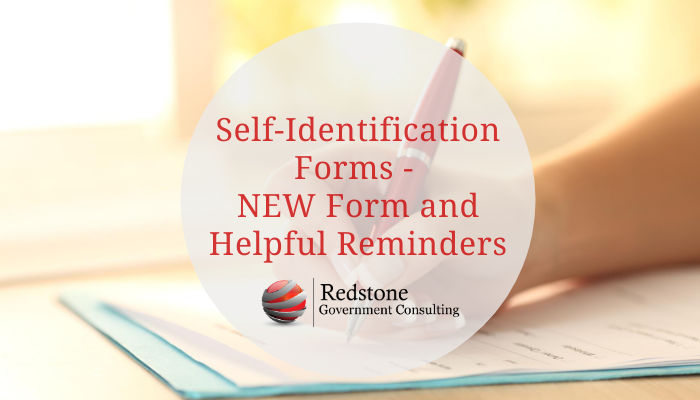 Self-Identification Forms - NEW Form and Helpful Reminders - Redstone Government Consulting
