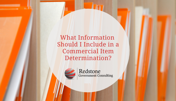 What Information Should I Include in a Commercial Item Determination? - Redstone gci
