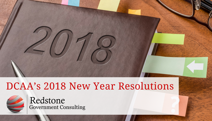Redstone-DCAA's 2018 New Year Resolutions