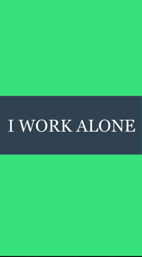 I Work Alone - Redstone Government Consulting